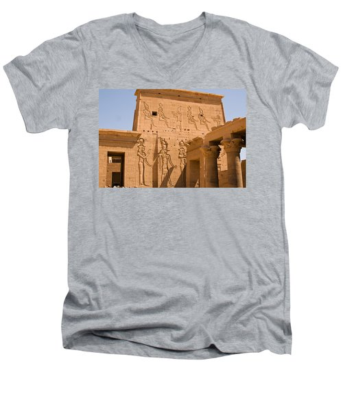Temple Exterior Men's V-Neck T-Shirt