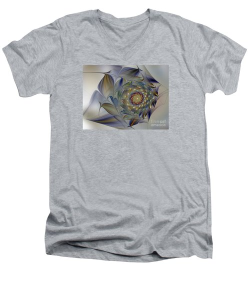 Tender Flowers Dream-fractal Art Men's V-Neck T-Shirt