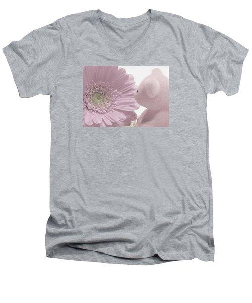 Tenderly Men's V-Neck T-Shirt by Angela Davies