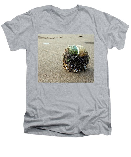 Men's V-Neck T-Shirt featuring the photograph Tennis Anyone? by Peter Mooyman