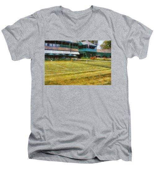 Tennis Hall Of Fame - Newport Rhode Island Men's V-Neck T-Shirt
