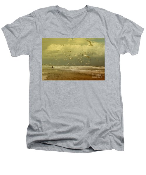Terns In The Clouds Men's V-Neck T-Shirt