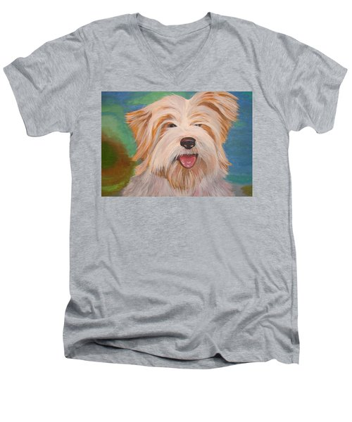 Terrier Portrait Men's V-Neck T-Shirt