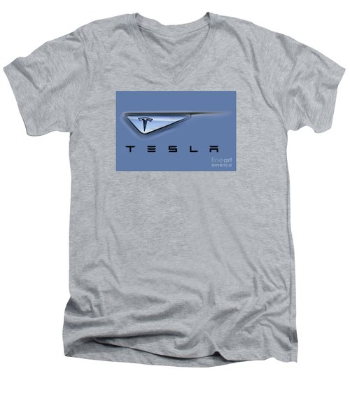 Tesla Model S Men's V-Neck T-Shirt