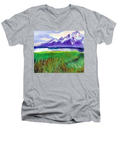 Teton View Men's V-Neck T-Shirt