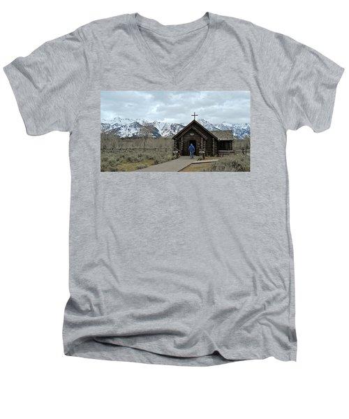 Tetons Chapel Of The Transfiguration Men's V-Neck T-Shirt