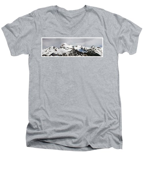 Tetons Panorama Men's V-Neck T-Shirt