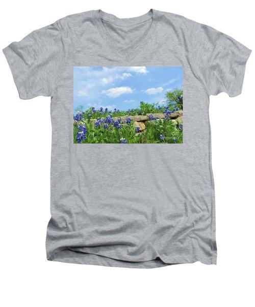Texas Bluebonnets 08 Men's V-Neck T-Shirt