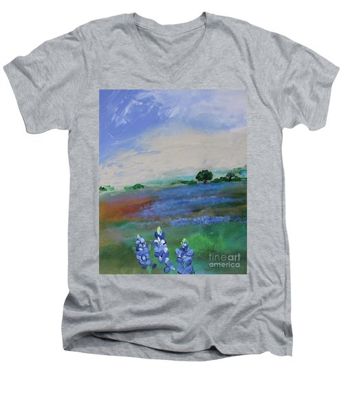Texas Bluebonnets Men's V-Neck T-Shirt