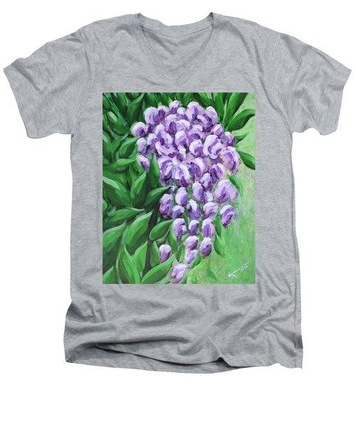 Texas Mountain Laurel Men's V-Neck T-Shirt by Kume Bryant