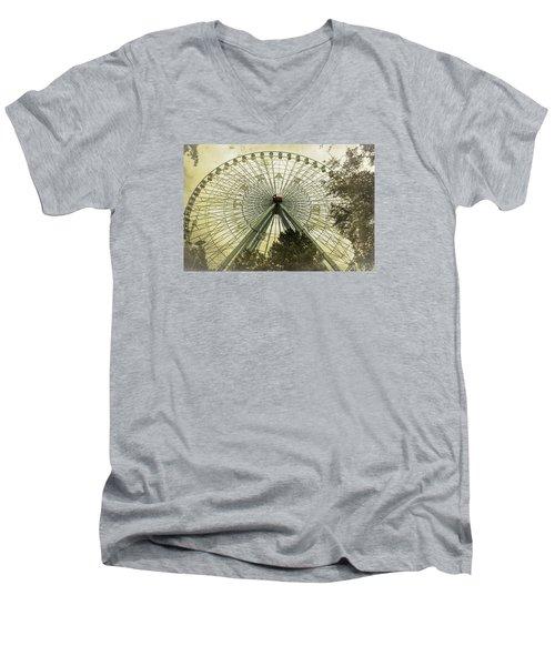 Texas Star Old Fashioned Fun Men's V-Neck T-Shirt by Joan Carroll
