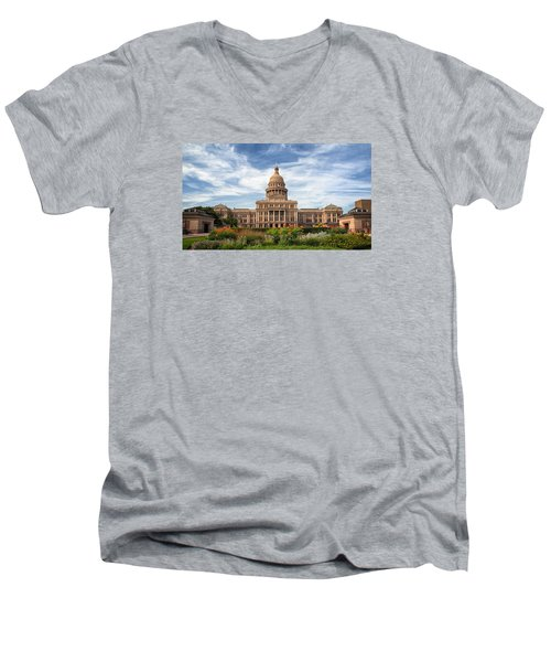 Texas State Capitol II Men's V-Neck T-Shirt by Joan Carroll