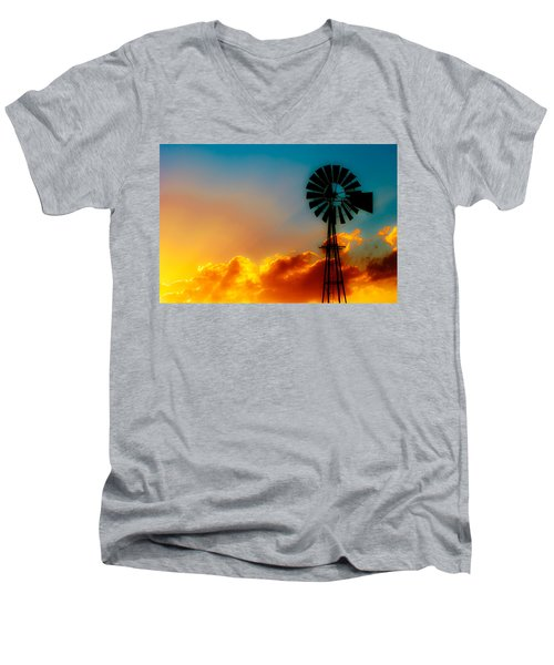 Texas Sunrise Men's V-Neck T-Shirt