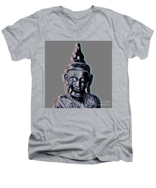 Thai Buddha #2 Men's V-Neck T-Shirt by Jean luc Comperat