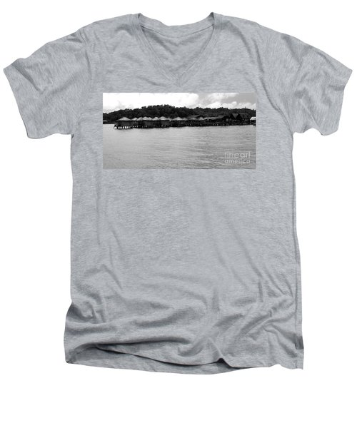 Men's V-Neck T-Shirt featuring the photograph Thai Village by Andrea Anderegg