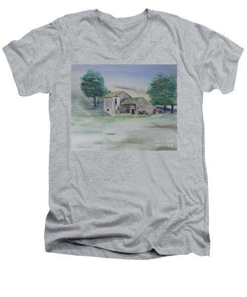 The Abandoned House Men's V-Neck T-Shirt by Martin Howard