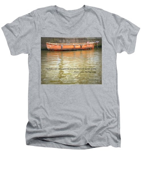 The Aim Of Boats Men's V-Neck T-Shirt by Lainie Wrightson