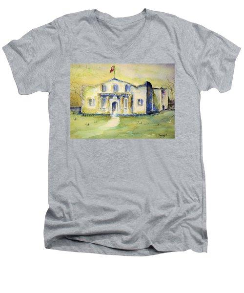 The Alamo  Men's V-Neck T-Shirt