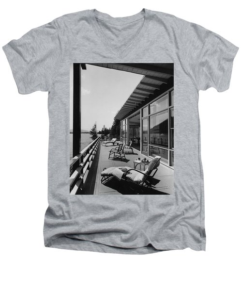 The Alfred Rose Lake Placid Summer Home Men's V-Neck T-Shirt