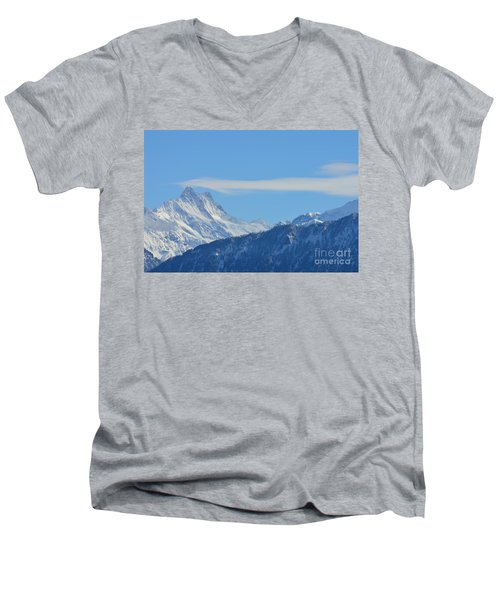 The Alps In Azure Men's V-Neck T-Shirt