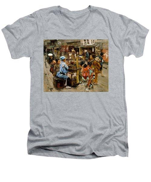 The Ameya Men's V-Neck T-Shirt by Robert Frederick Blum
