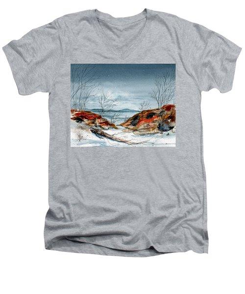 The Approaching Evening Men's V-Neck T-Shirt