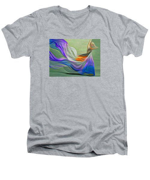 The Art Of Dance Men's V-Neck T-Shirt by Nina Bradica