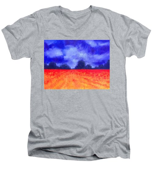 The Autumn Arrives Men's V-Neck T-Shirt