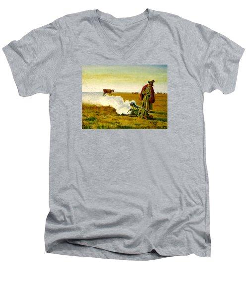 The Autumn Men's V-Neck T-Shirt