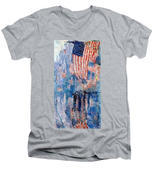 The Avenue In The Rain Men's V-Neck T-Shirt