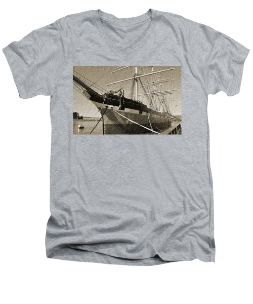 The Balclutha Men's V-Neck T-Shirt by Holly Blunkall