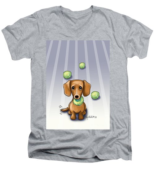 The Ball Catcher Men's V-Neck T-Shirt