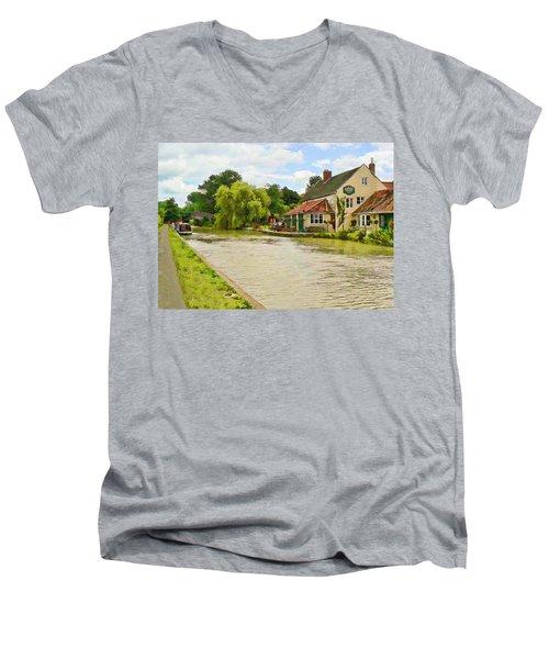 The Barge Inn Seend Men's V-Neck T-Shirt