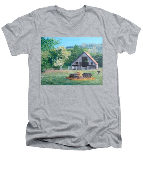 The Barn Men's V-Neck T-Shirt