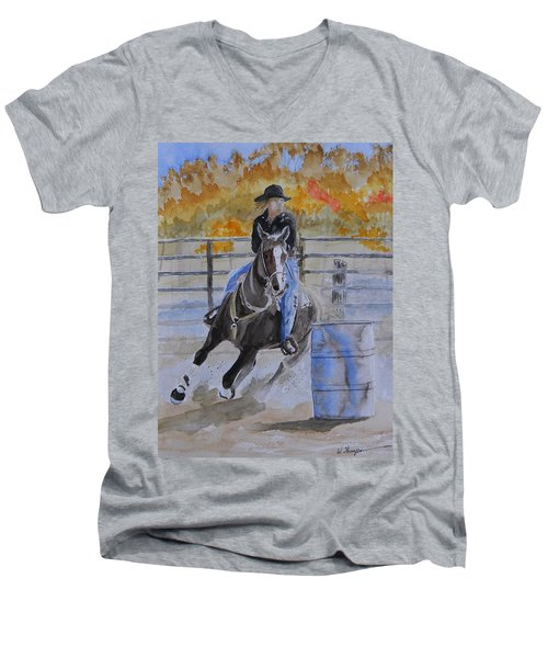 The Barrel Race Men's V-Neck T-Shirt