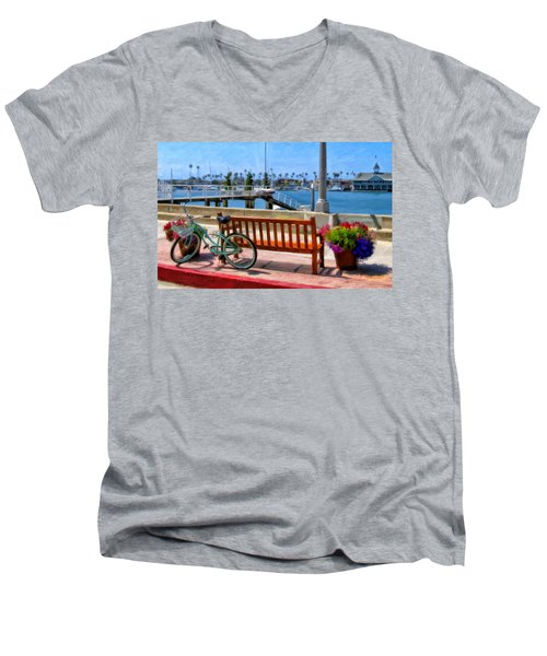 The Beach Cruiser Men's V-Neck T-Shirt by Michael Pickett
