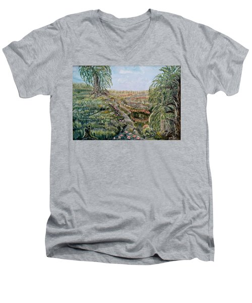 The Beauty Of A Marsh Men's V-Neck T-Shirt