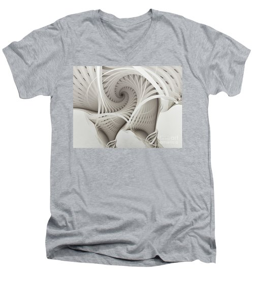 The Beauty Of Math-fractal Art Men's V-Neck T-Shirt