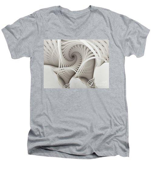The Beauty Of Math-fractal Art Men's V-Neck T-Shirt by Karin Kuhlmann