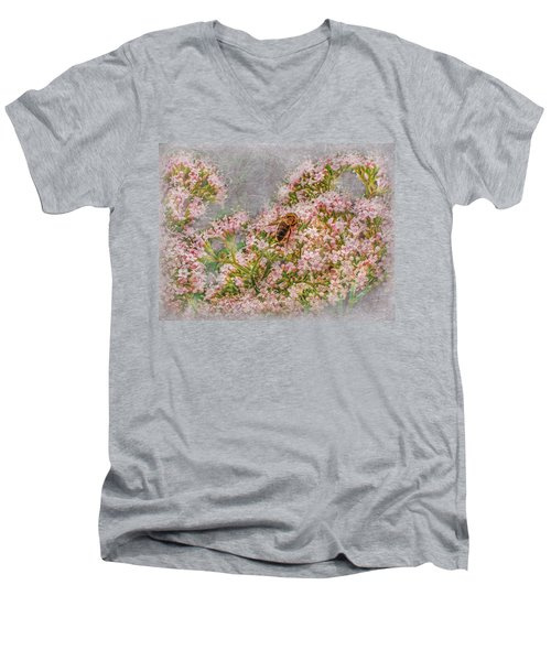 The Bee Men's V-Neck T-Shirt by Hanny Heim