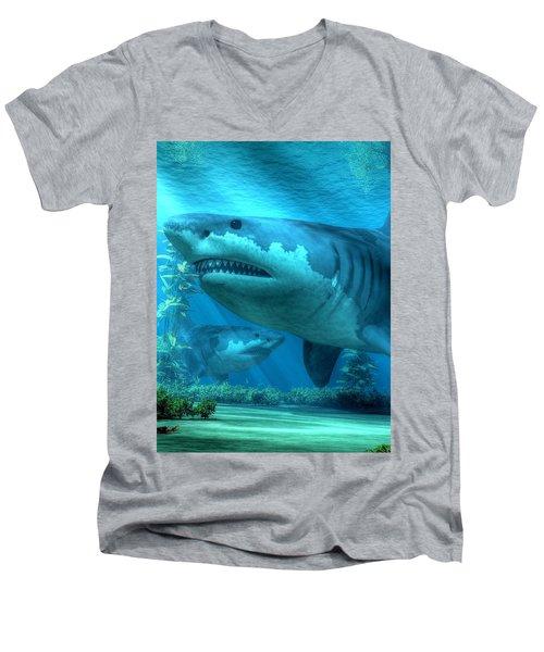 The Biggest Shark Men's V-Neck T-Shirt