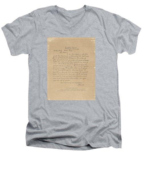 The Bixby Letter Men's V-Neck T-Shirt by Celestial Images