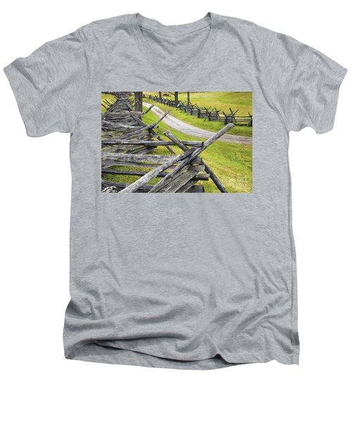 The Bloody Lane At Antietam Men's V-Neck T-Shirt