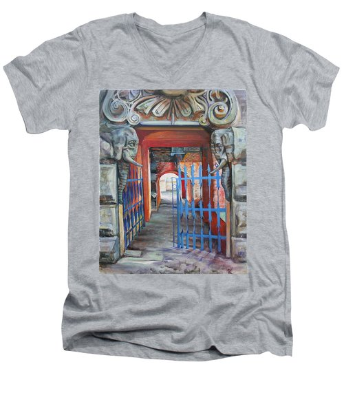 The Blue Gate Men's V-Neck T-Shirt