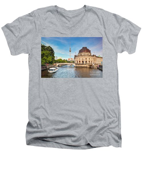 The Bode Museum Berlin Germany Men's V-Neck T-Shirt by Michal Bednarek