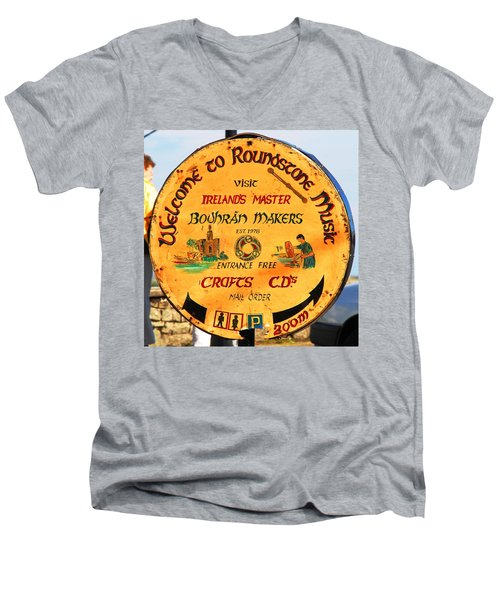 The Bodhran Makers Men's V-Neck T-Shirt by Charlie and Norma Brock