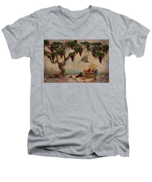 The Bread And The Vine Men's V-Neck T-Shirt