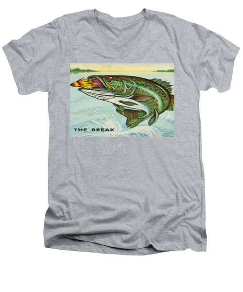Men's V-Neck T-Shirt featuring the digital art The Break by Cathy Anderson