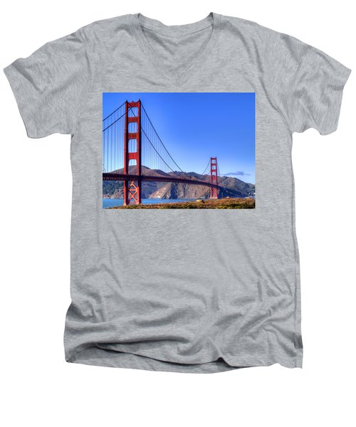 The Bridge Men's V-Neck T-Shirt by Bill Gallagher