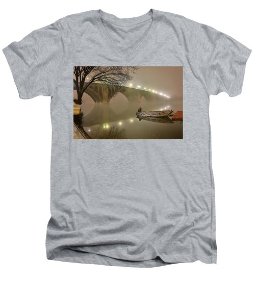 The Bridge To Nowhere Men's V-Neck T-Shirt